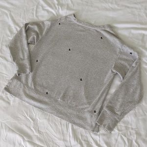 Gap Grey Floral Oversized Sweater